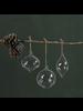 HomArt Blown Glass Swirl Bulb Ornament - Set of 2