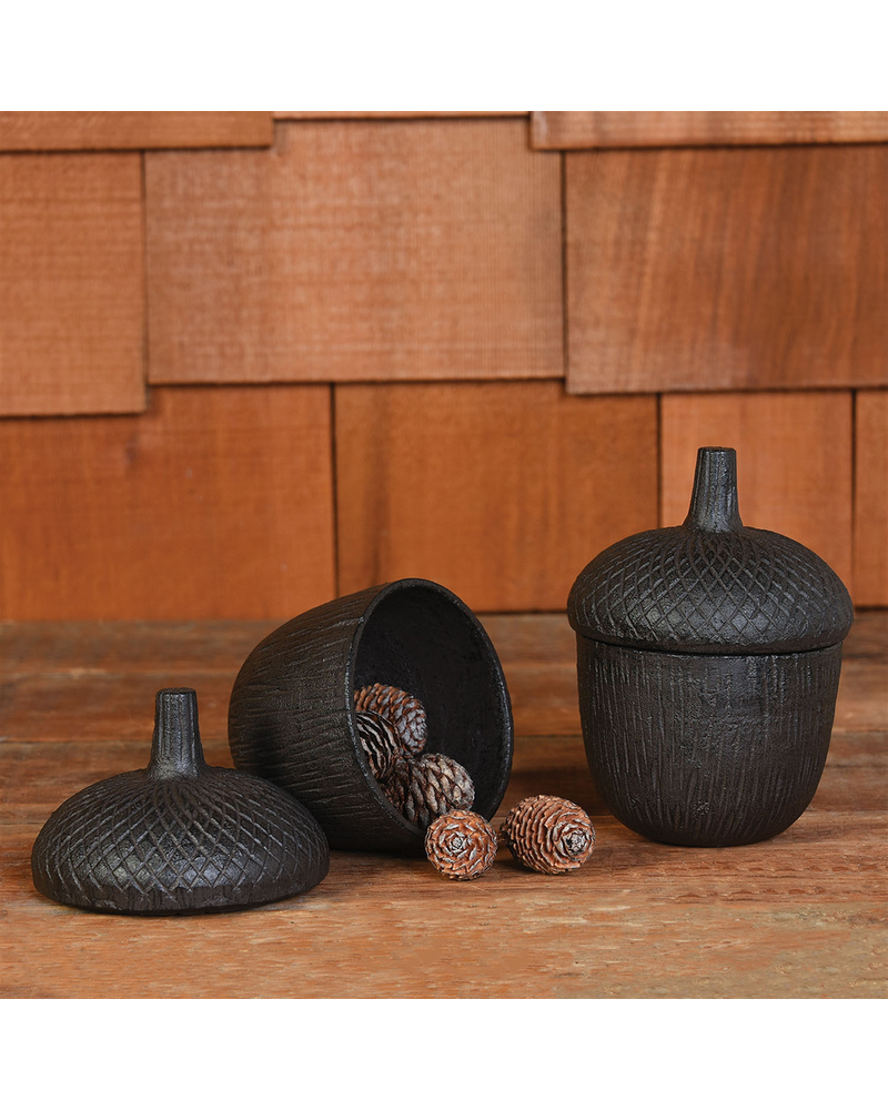 HomArt Acorn Cast Iron Box - Brown