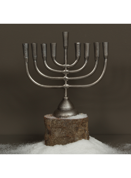 HomArt Menorah Cast Aluminum Candle Holder - Aluminum