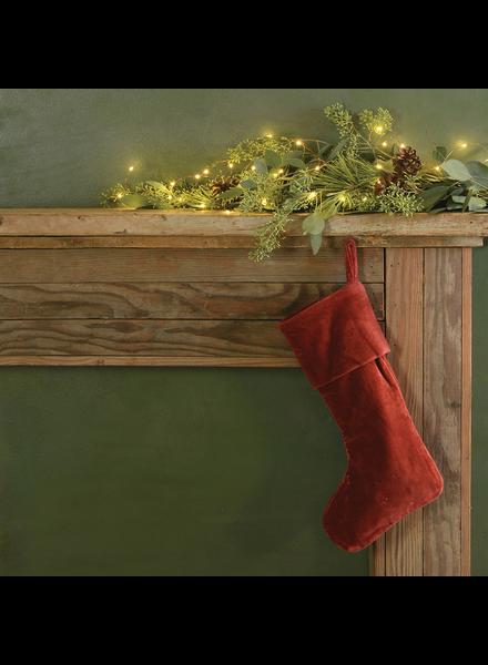 HomArt Velvet Stocking - Red