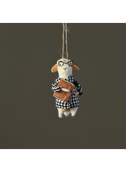 HomArt Felt Library Lamb Ornament