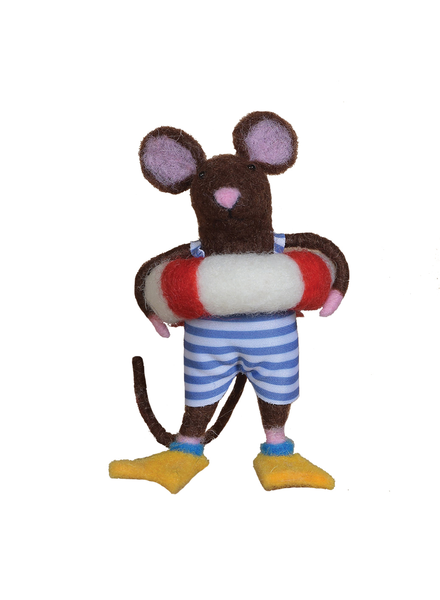 HomArt Felt Swimmer Guy Mouse Ornament