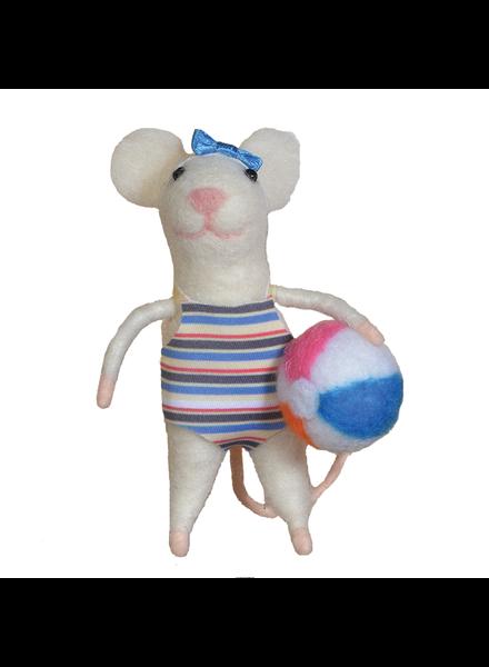 HomArt Felt Swimmer Gal Mouse Ornament
