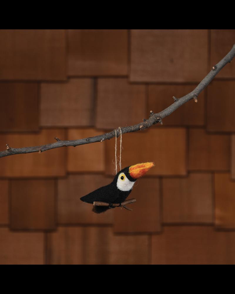 HomArt Felt Tropical Bird Toucan Ornament - Set of 2