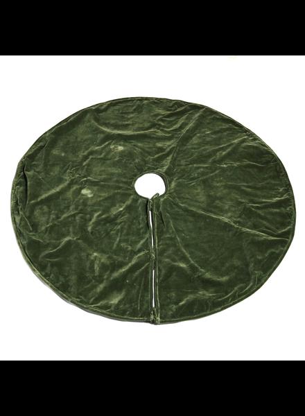 HomArt Velvet Tree Skirt - Green