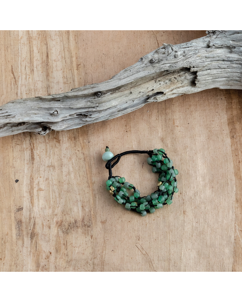 OraTen Fishing Line Bracelet - Green & Black