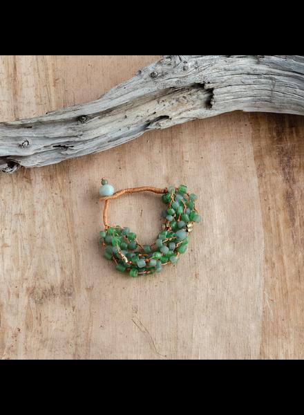 OraTen Fishing Line Bracelet - Green & Orange