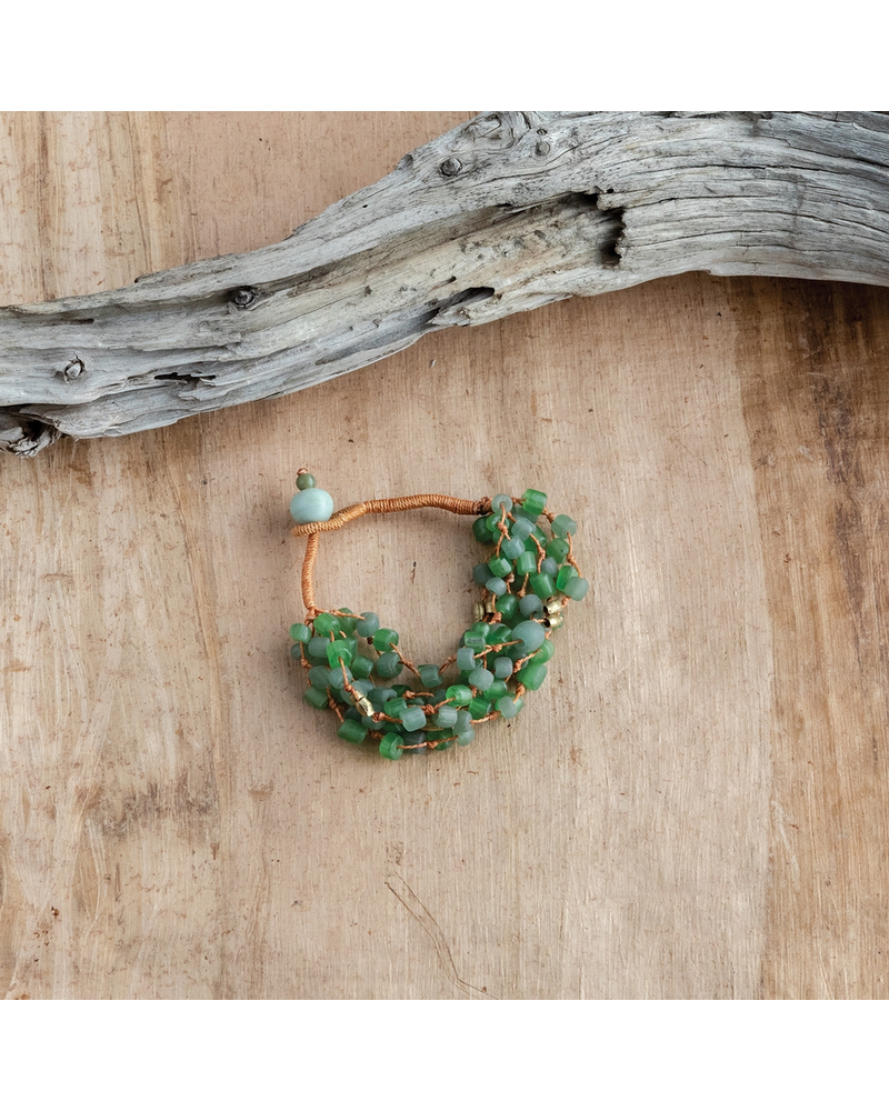 OraTen Fishing Line Bracelet - Green & Orange