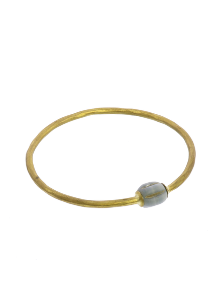 OraTen Single Melon Brass Bangle - Blue Melon