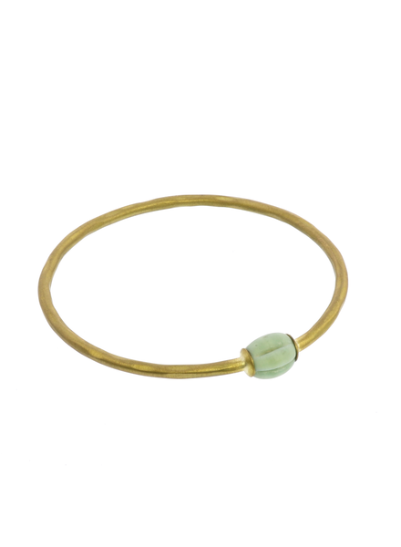 OraTen Single Melon Brass Bangle - Green Melon