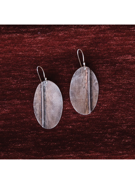 OraTen Leaf Silver Earrings