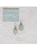 OraTen Dewdrop Teardrop Earrings - Green Fluorite