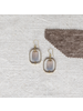 OraTen Dewdrop Rectangle Earrings - Grey Onyx
