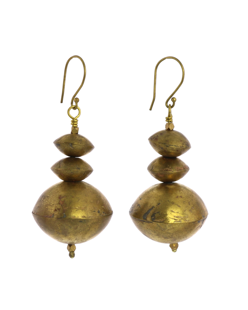 OraTen Hilo Brass Multi Bicone Earrings
