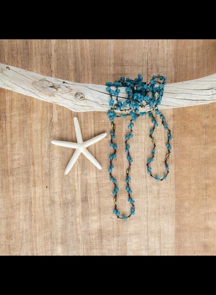 OraTen Fishing Line Necklace - Blue & Black