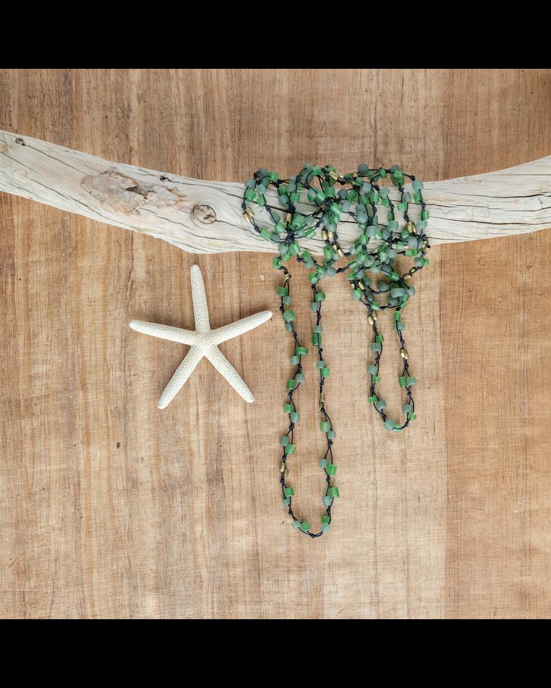 OraTen Fishing Line Necklace - Green & Black
