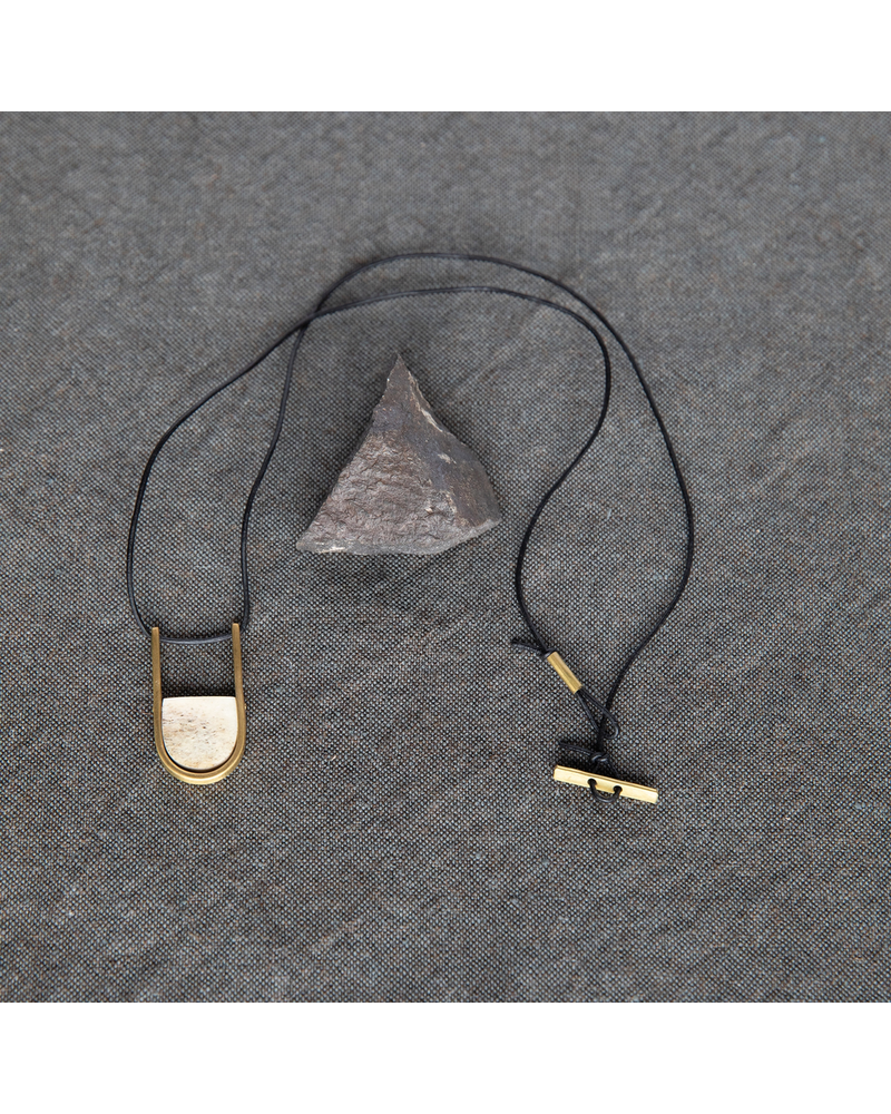 OraTen Circ Brass Necklace, Arch - Antler