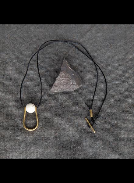 OraTen Circ Brass Necklace, Drop - Antler