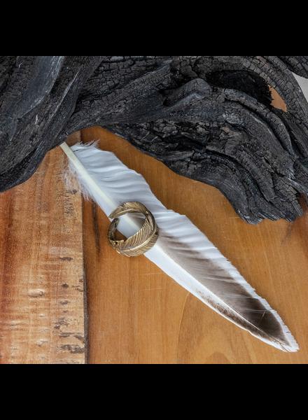 OraTen Penna Brass Feather Ring