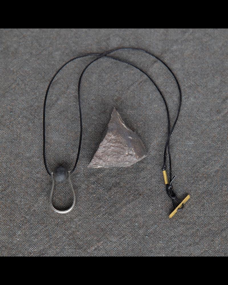 OraTen Circ Silver Necklace, Drop - Horn