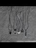 OraTen Circ Silver Necklace, Bar - Horn