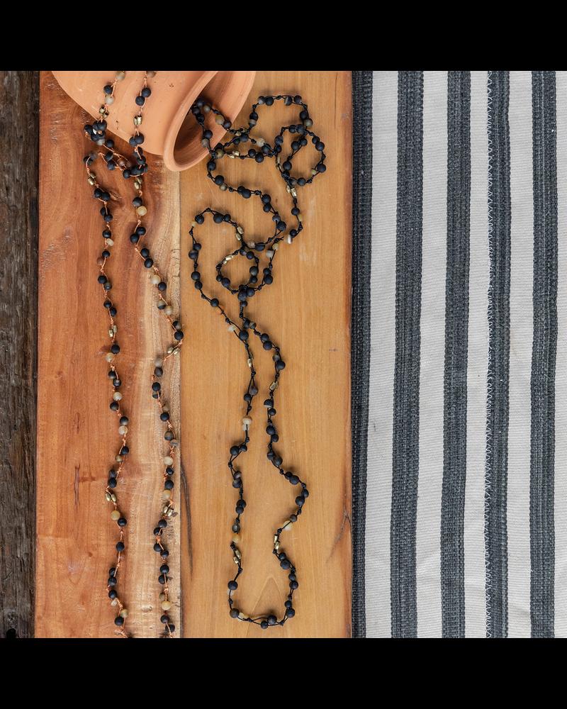 OraTen Fishing Line Necklace - Horn & Orange