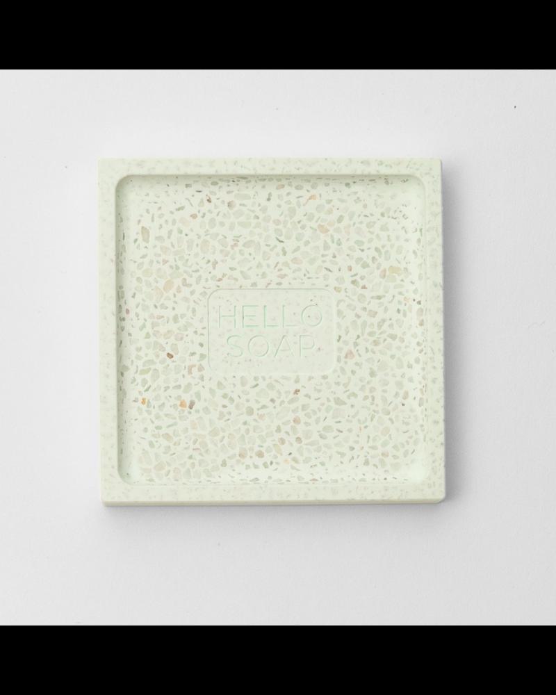 Green Hello Soap Dish