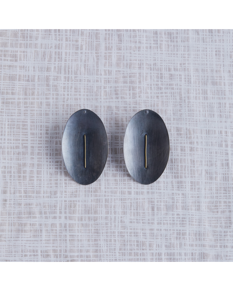 OraTen Ives Post Earring - Oval,  Silver