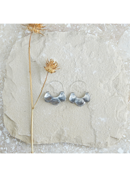 OraTen Yucca Earring - Scalloped, Silver