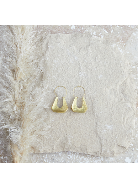 OraTen Yucca Earring - Trapezoid, Brass