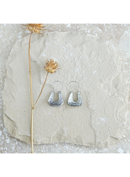 OraTen Yucca Earring - Trapezoid, Silver