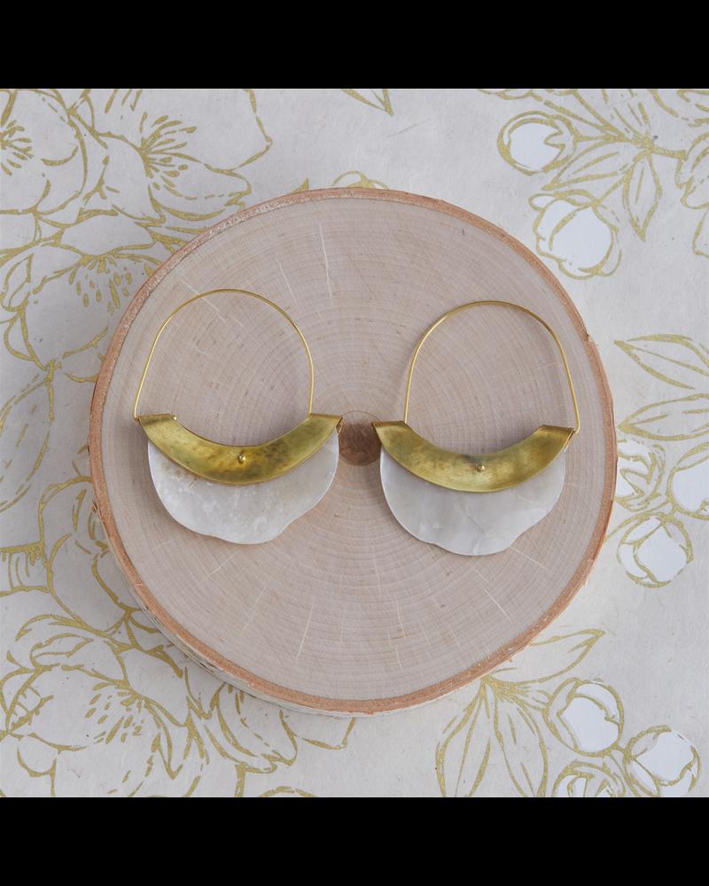 OraTen Chama Organic Mother of Pearl Earring