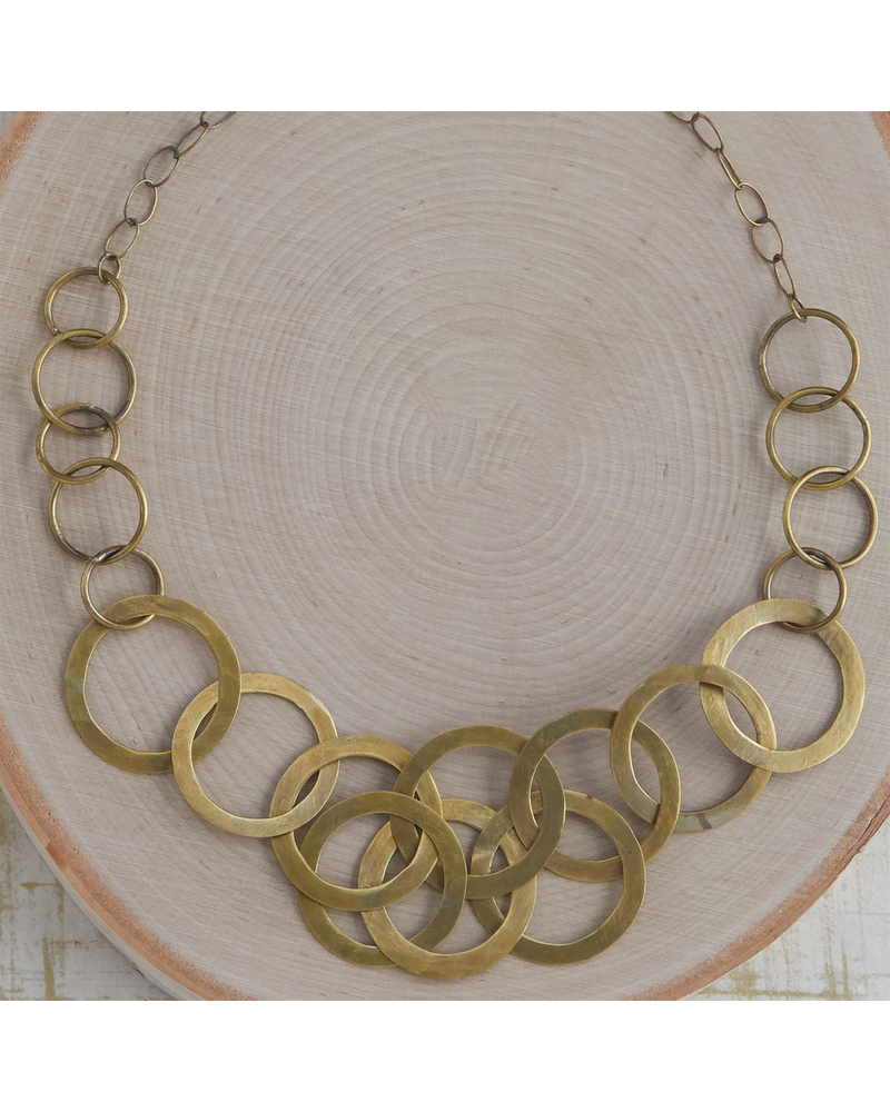 OraTen Moran Necklace, Brass