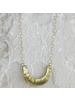 OraTen Yucca Necklace - Crescent, Lrg, Brass
