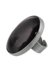 OraTen Bezel Set Ring, Silver, Horn