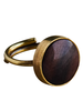 OraTen Penny Ring, Brass, Dark Wood