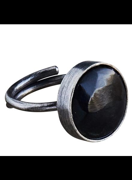OraTen Penny Ring, Brass, Dark Horn