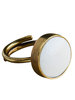 OraTen Penny Ring, Brass, Bone