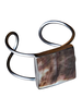 OraTen Nusa Cuff - Square, Silver, Mother of Pearl - Dark