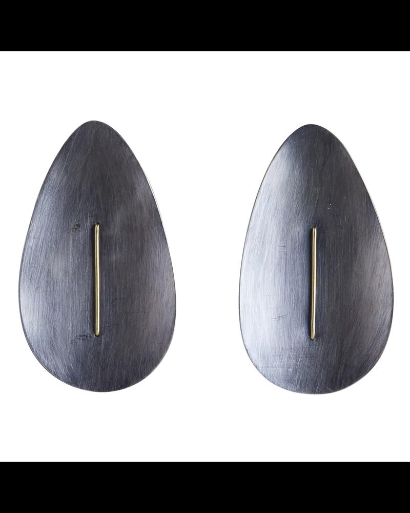 OraTen Ives Post Earring - Drop, Silver