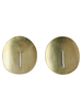 OraTen Ives Post Earring - Round,  Brass