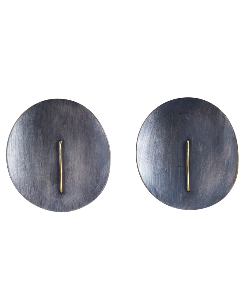 OraTen Ives Post Earring - Round, Silver