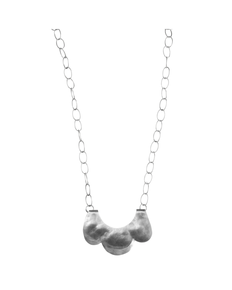 OraTen Yucca Necklace - Scalloped, Sm, Silver