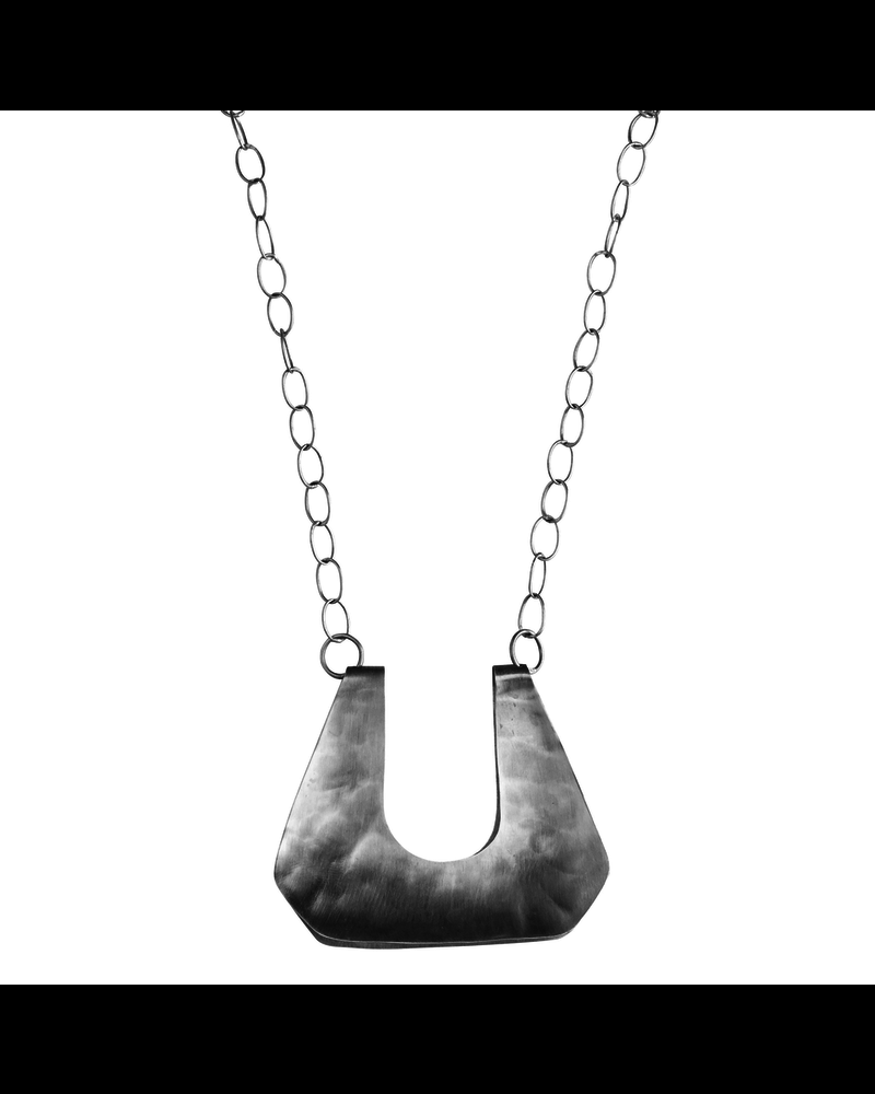 OraTen Yucca Necklace - Trapezoid, Lrg, Silver