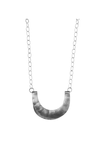 OraTen Yucca Necklace - Crescent, Lrg, Silver
