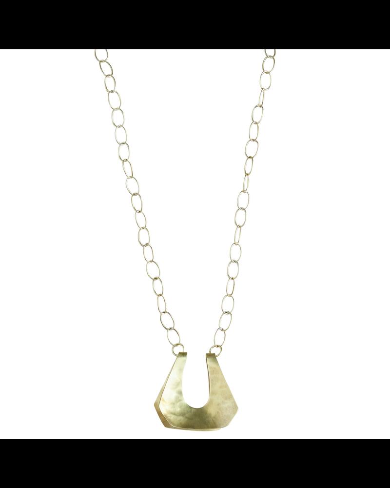 OraTen Yucca Necklace - Trapezoid, Sm, Brass