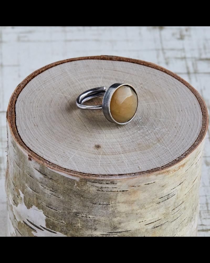 OraTen Penny Ring, Silver, Light Horn