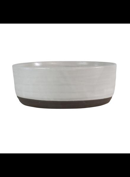 HomArt Large Liam Ceramic Bowl - Partial Glaze