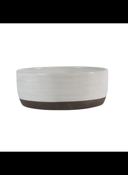 HomArt Medium Liam Ceramic Bowl - Partial Glaze