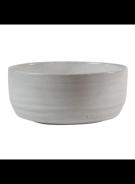 HomArt Large Liam Ceramic Bowl - White Glaze